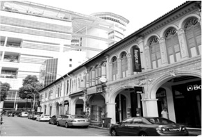 KAI HOTEL in the conservation shophouses along PURVIS STREET